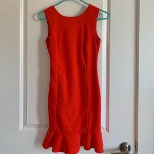 Bright red Zara dress